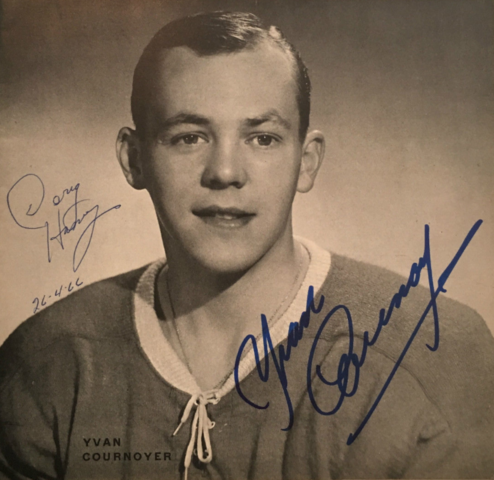 Yvan Cournoyer 1966 Montreal Canadiens