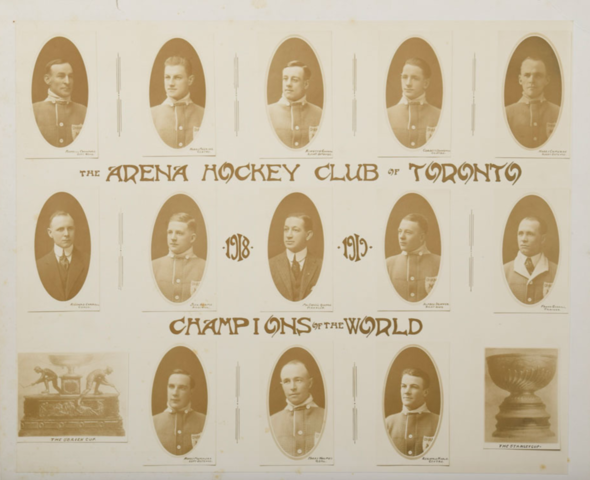 Toronto Arenas Team Photo 1918 Stanley Cup Champions
