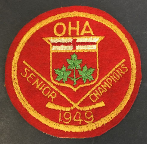 Toronto Marlboros Patch for 1949 Ontario Hockey Association / OHA Champions