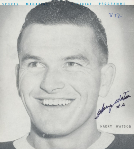 Harry Watson 1952 Toronto Maple Leafs