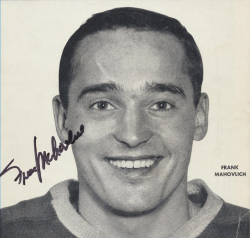 Frank Mahovlich 1959 Toronto Maple Leafs