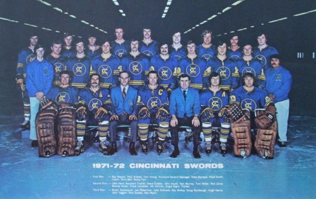Cincinnati Swords Team Photo 1971 American Hockey League