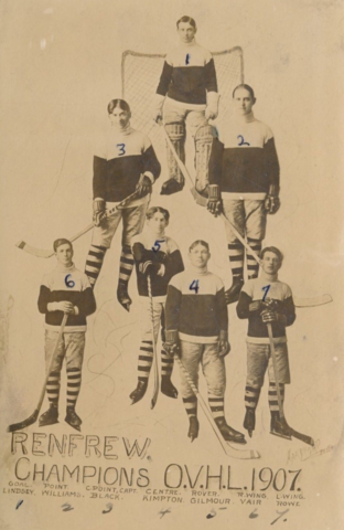 Renfrew Hockey Team 1907 O.V.H.L. Ottawa Valley Hockey League Champions