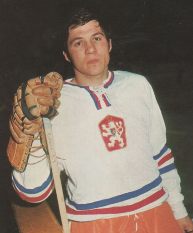 "Milan Kužela ""Gulino"" 1972 Czechoslovakia Men's National Ice Hockey Team"