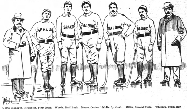Chicago Spaldings Hockey & Ice Polo Team 1895