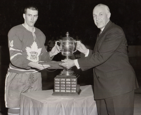 Dave Keon 1962 Lady Byng Memorial Trophy Winner - Presented by Clarence Campbell