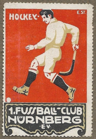 German Field Hockey Poster Stamp 1915 - Nürnberg EV