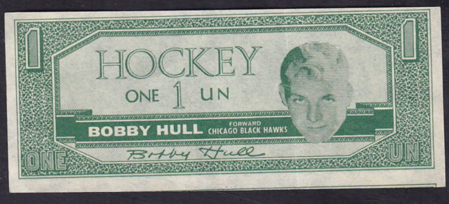 1962-63 Topps Hockey Bucks #12 Bobby Hull