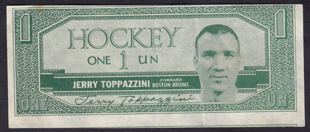 1962-63 Topps Hockey Bucks #22 Jerry Toppazzini