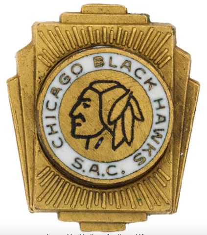 Chicago Black Hawks Lapel Pin 1940