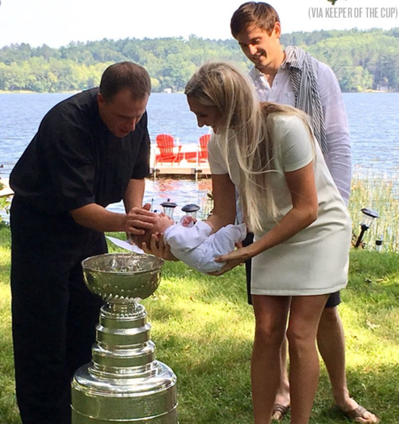 Brecken Archibald gets Baptized out of Hockey's Holy Grail, the Stanley Cup 2017