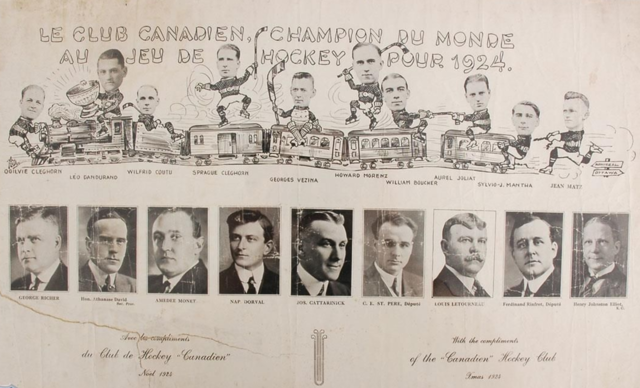 Montreal Canadiens Stanley Cup Champions 1924 Christmas Greeting Card