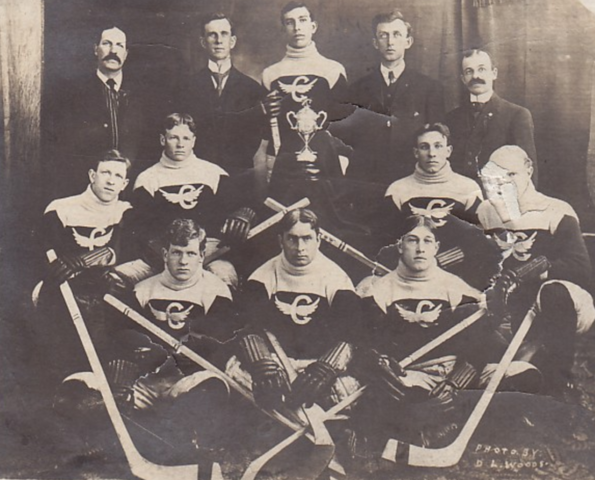 Crysler Hockey Team 1910 Champions Northern Stormont Hockey League
