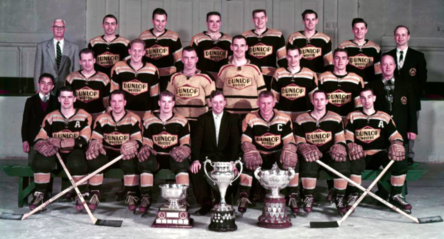 Whitby Dunlops Allan Cup Champions 1957 J. Ross Robertson Cup Champions