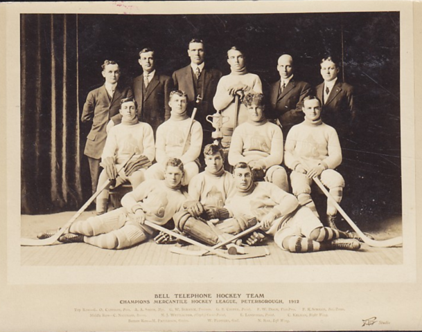Bell Telephone Hockey Team 1912 Peterborough Mercantile Hockey League Champions