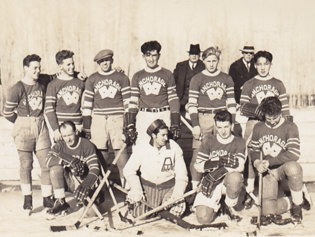 Anchorage Aces Hockey Team 1920s - early 1930s