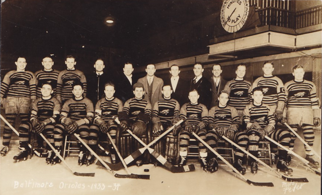 Baltimore Orioles Hockey Team 1933 Eastern Hockey League