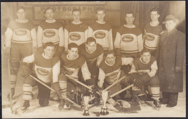 Lachute Spitfire Hockey Team 1939 Mount Royal Intermediate League Champions