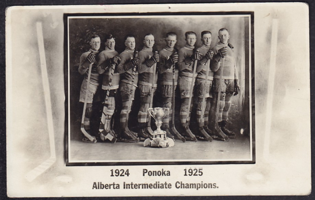 Ponoka Hockey Club 1925 Alberta Intermediate Amateur Hockey Champions