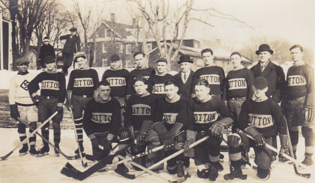 Sutton Hockey Team 1930-31 Sutton, Quebec
