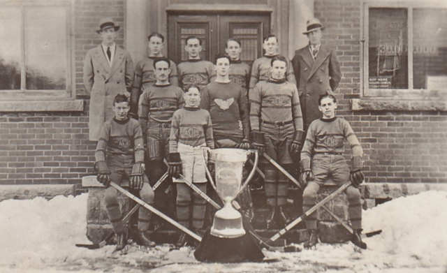 Ayer's Cliff High School Hockey Team 1933
