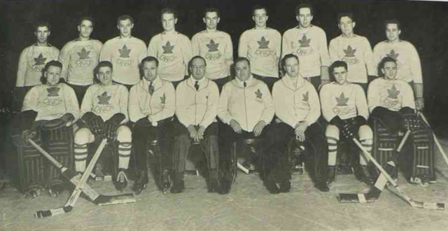 Team Canada / Port Arthur Bear Cats 1936 Winter Olympics Silver Medal Winners