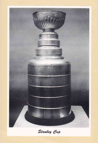 Stanley Cup Trophy - 4 White Borders Bee Hive Group 2 Photo 1945-64