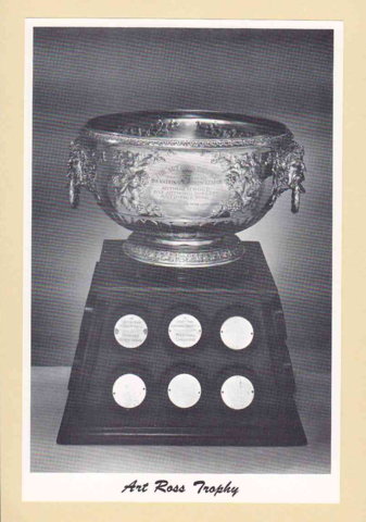 Art Ross Trophy - 4 White Borders  Bee Hive Group 2 Photo 1945-64