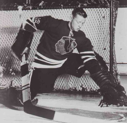 Hank Bassen 1955 Chicago Black Hawks