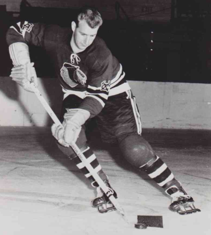 Glen Skov 1956 Chicago Black Hawks