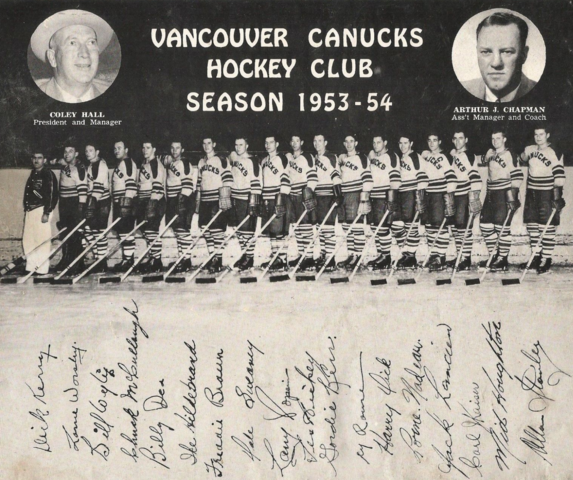 Vancouver Canucks Team Photo 1953