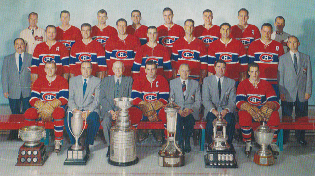 Montreal Canadiens Team Photo 1956 Stanley Cup Champions