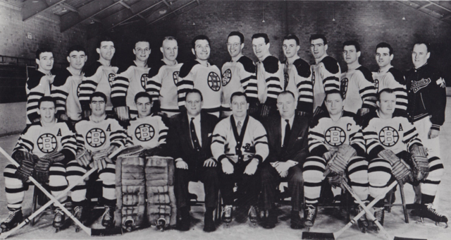 Boston Bruins Team Photo 1955