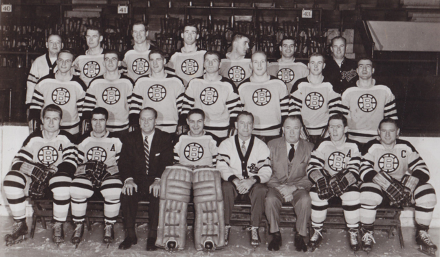 Boston Bruins Team Photo 1956
