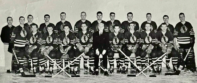 Chicago Black Hawks Team Photo 1955