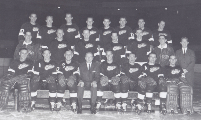 Detroit Red Wings Team Photo 1963