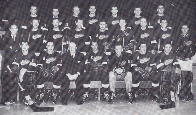 Detroit Red Wings Team Photo 1958