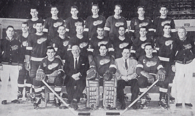 Detroit Red Wings Team Photo 1956