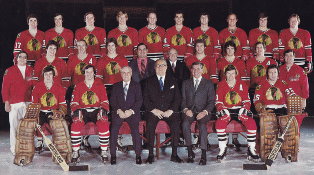 Chicago Black Hawks Team Photo 1975