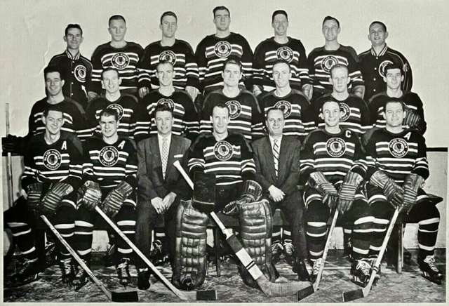 Chicago Black Hawks Team Photo 1954