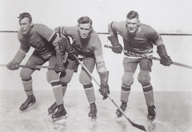 "Bill Cook, Frank Boucher, Bun Cook - New York Rangers ""Bread Line"" 1927"