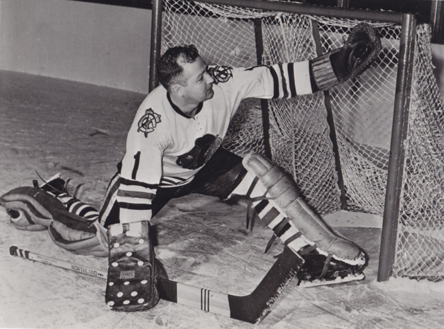 Glenn Hall 1960 Chicago Black Hawks