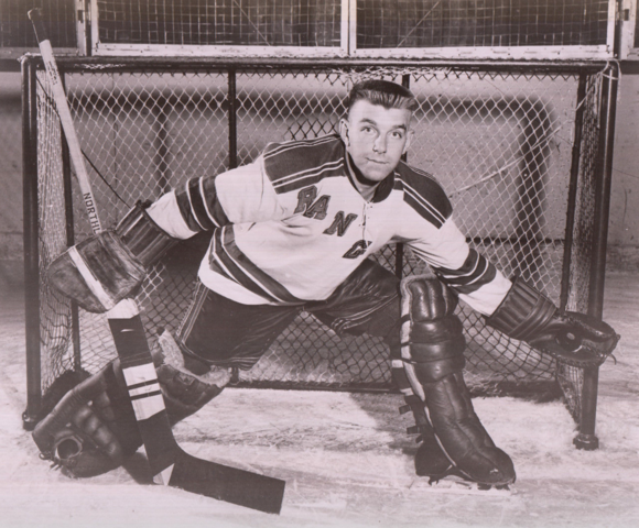 "Lorne ""Gump"" Worsley 1956 New York Rangers"