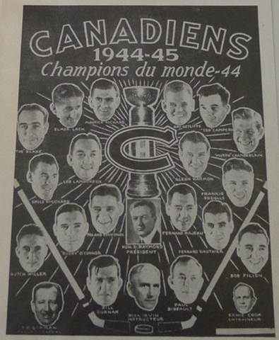 Montreal Canadiens Stanley Cup Champions 1944