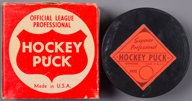 Superior Professional Hockey Puck 1960s Official League Professional Hockey Puck