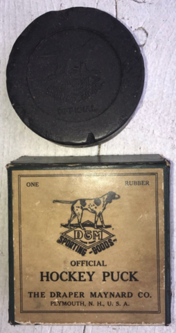 Draper Maynard Official Hockey Puck 1930s D & M Hockey Puck