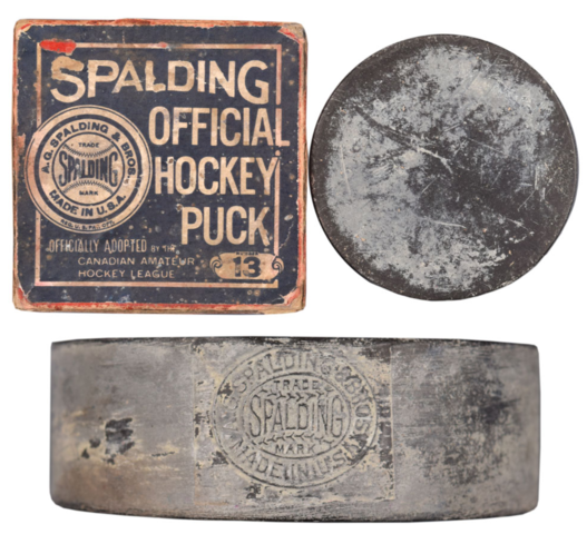 Spalding Official Hockey Puck 1910
