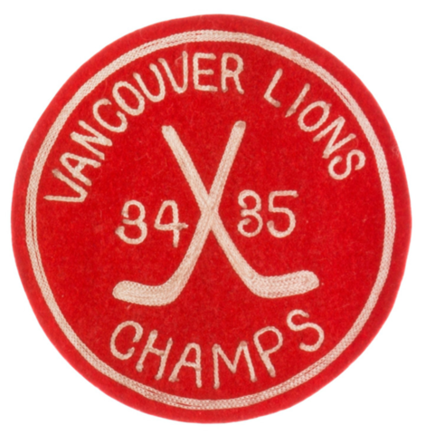 Vancouver Lions Championship Hockey Patch 1935 North West Hockey League Champion