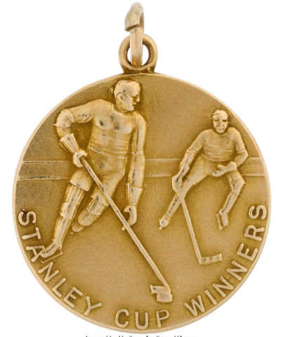 New York Rangers Stanley Cup Championship Pendant Presented to Clint Smith 1940