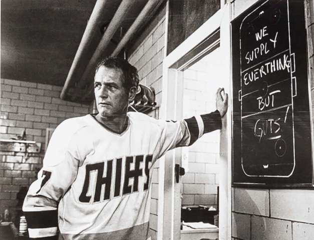 Paul Newman in Slap Shot - Reggie 'Reg' Dunlop Charlestown Chiefs 1977